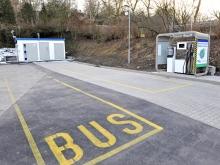MJ SAT, veřejná čerpací stanice, Písek (náhled ze silnice)