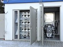 MJ SAT, veřejná čerpací stanice, Písek (zásobní část s plynem)