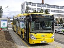 MJ SAT, veřejná čerpací stanice, Písek (plnění autobusu MHD)