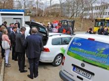 Slavnostní otevření plnicí stanice CNG v Písku 11.4.2013