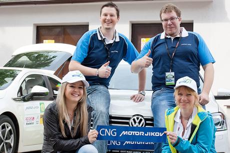Zleva: Jan Kocourek, Lukáš Vosecký, Andrea Homolová a Lenka Mikulenková