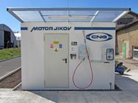 Plnící stanice CNG funguje v prostorách firmy UNION LESNÍ BRÁNA, a. s.