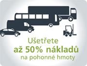 Ušetřete až 50% nákladů na pohonné hmoty