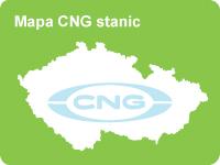 Mapa CNG stanic v České Republice
